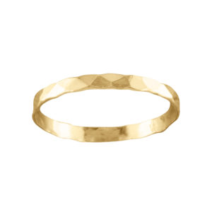 Classic Hammered – Thumb Ring – Gold Filled