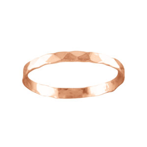 Classic Hammered – Toe Ring – Rose Gold Filled