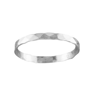 Classic Hammered – Toe Ring – Sterling Silver