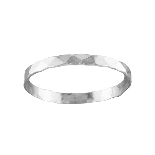 Classic Hammered Skinny Ring
