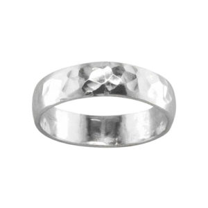 Bold Hammered – Toe Ring – Sterling Silver