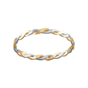 Braid – Toe Ring – Mixed Metal