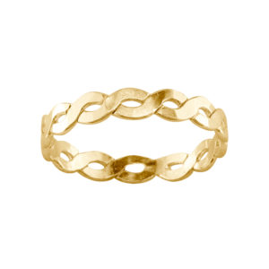 Medium Braid – Toe Ring – Gold Filled