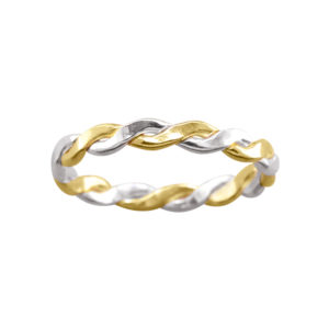 Medium Braid – Toe Ring – Mixed Metal