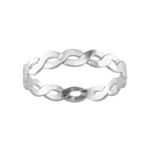 Medium Braid – Toe Ring – Sterling Silver