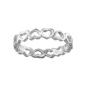 Sweet Hearts – Toe Ring – Sterling Silver