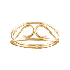 Scroll – Thumb Ring – Gold Filled