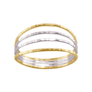Four in One – Thumb Ring – Mixed Metal