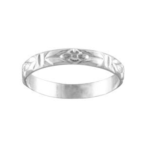 Fluer De Lei – Thumb Ring – Sterling Silver