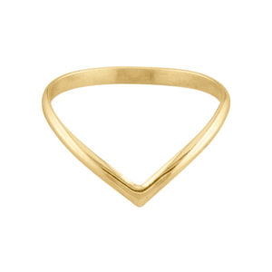 The V – Thumb Ring – Gold Filled