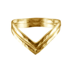 Double V – Thumb Ring – Gold Filled