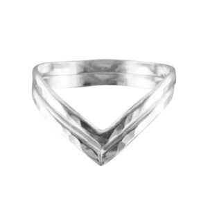 Double V – Toe Ring – Sterling Silver