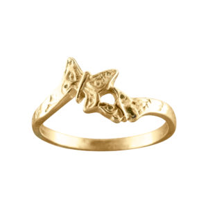 Butterflies – Toe Ring – Gold Vermeil