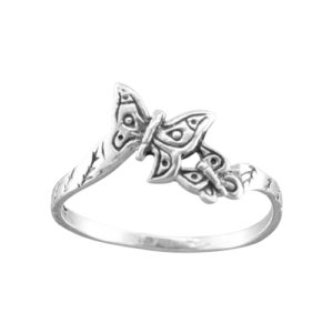 Butterflies – Thumb Ring – Sterling Silver
