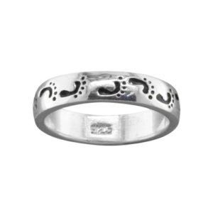 Footprints – Thumb Ring – Sterling Silver
