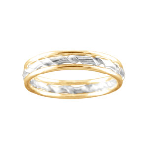 Triple with Twist – Thumb Ring – Gold Filled/Mixed Metal
