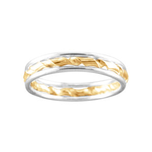 Triple with Twist – Thumb Ring – Sterling Silver/Mixed Metal