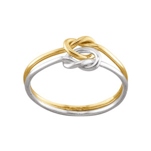Double Love Knot – Thumb Ring – Mixed Metal