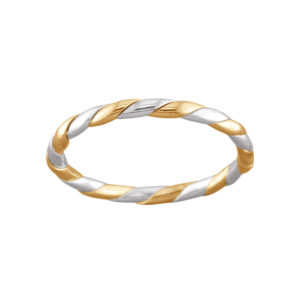 Smooth Rope – Toe Ring – Mixed Metal
