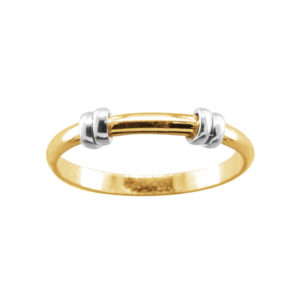 Double Wrap Band – Thumb Ring – Gold Filled/Mixed Metal