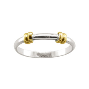 Double Wrap Band – Thumb Ring – Sterling Silver/Mixed Metal