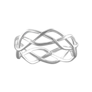 Celtic Braid – Toe Ring – Sterling Silver