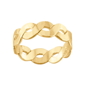 Heavy Braid – Thumb Ring – Gold Filled