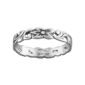 Puanani Lei – Thumb Ring – Sterling Silver