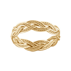 Fancy Weave – Toe Ring – Gold Filled