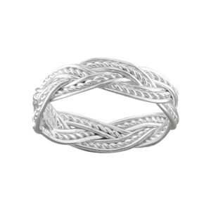 Fancy Weave – Toe Ring – Sterling Silver