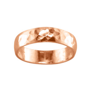 Bold Hammered – Thumb Ring – Rose Gold Filled