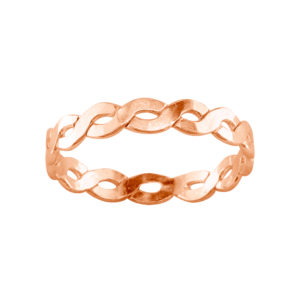 Medium Braid – Thumb Ring – Rose Gold Filled
