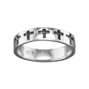 Cross – Thumb Ring – Sterling Silver