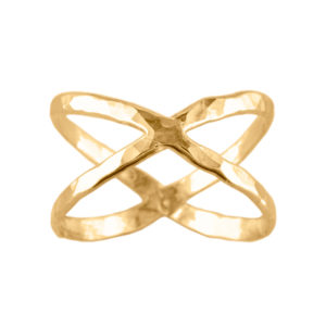 Criss Cross – Thumb Ring – Gold Filled