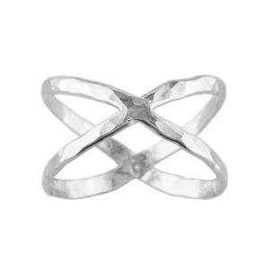 Criss Cross – Thumb Ring – Sterling Silver