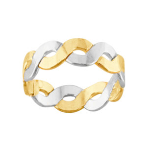 Heavy Braid – Toe Ring – Mixed Metal