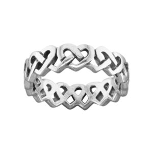 Celtic Heart – Thumb Ring – Sterling Silver