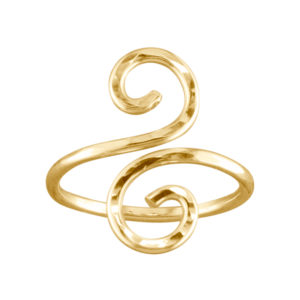 Hammered Swirl – Thumb Ring – Gold Filled