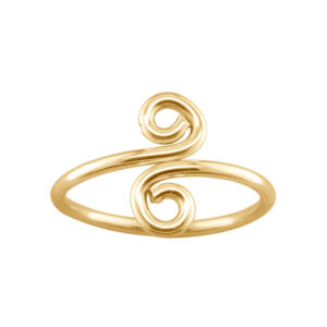 Swirl – Thumb Ring – Gold Filled