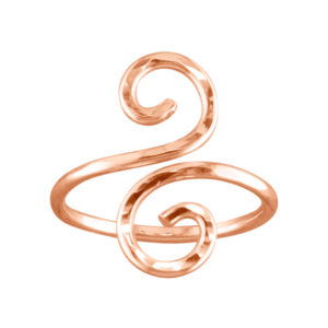 Hammered Swirl – Thumb Ring – Rose Gold Filled