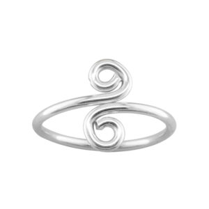 Swirl – Thumb Ring – Sterling Silver